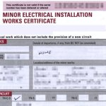 Sample Minor Electrical Works Certificate