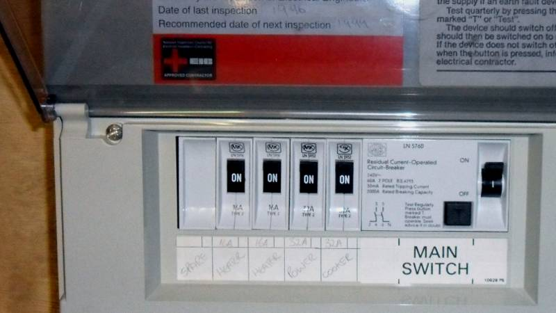 Fuse Box Rcd Switch : Consumer unit trip switch industrial electronic components