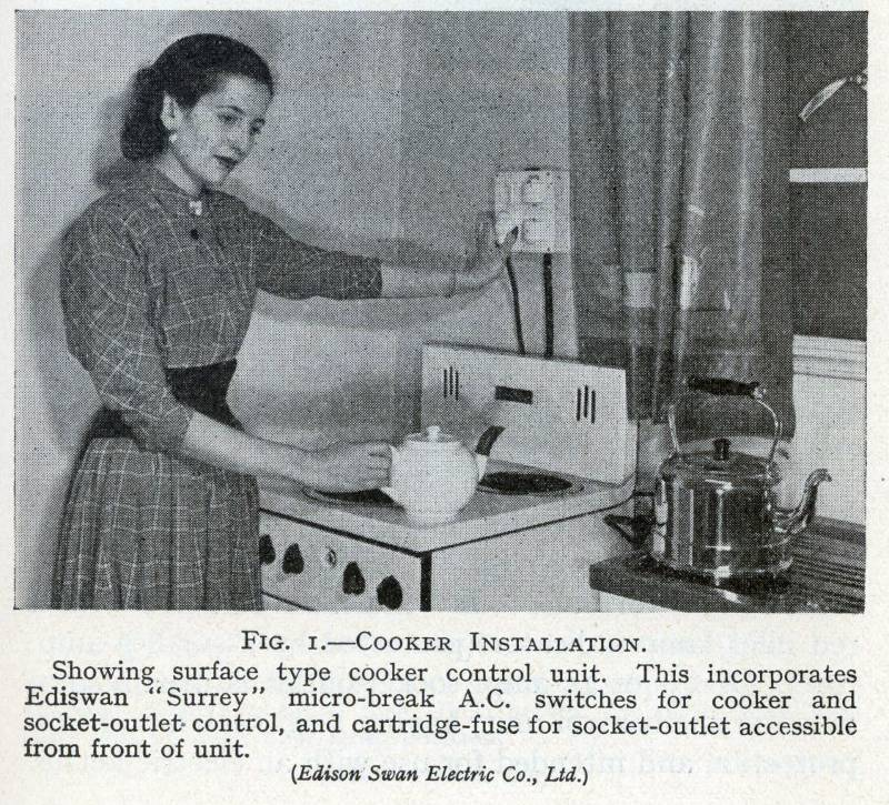 Electric cooking 1957 style  sc 1 st  eec247 : 1950s electrical wiring - yogabreezes.com