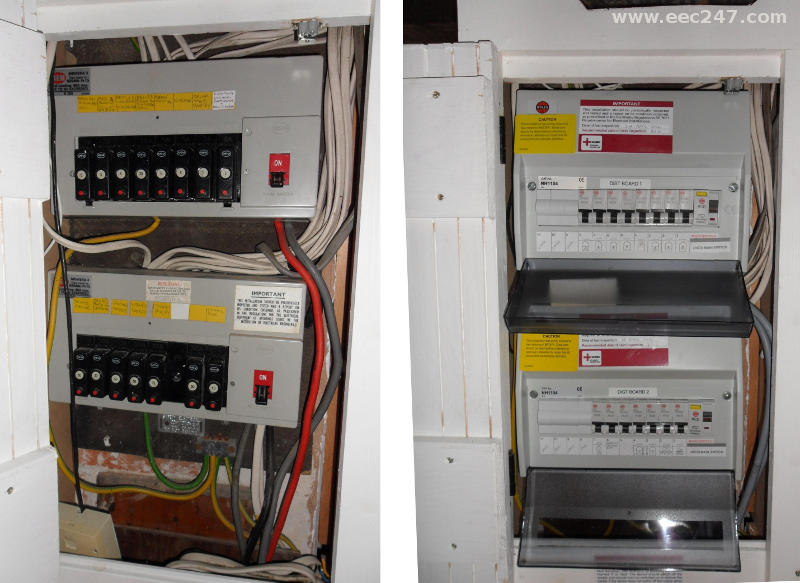 eec247 consumer units and fuseboxes installed to the latest iee replace two fuseboxes consumer units and fix various faults