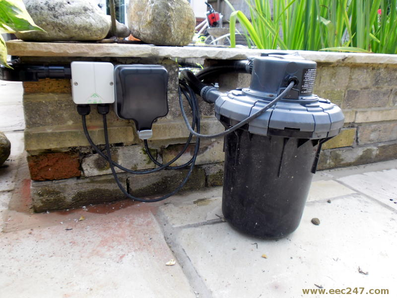 Eec247 outdoor electrical power for Pond pump box