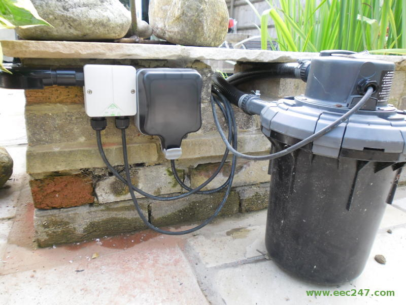 Eec247 various small electrical jobs for External pond pump and filter