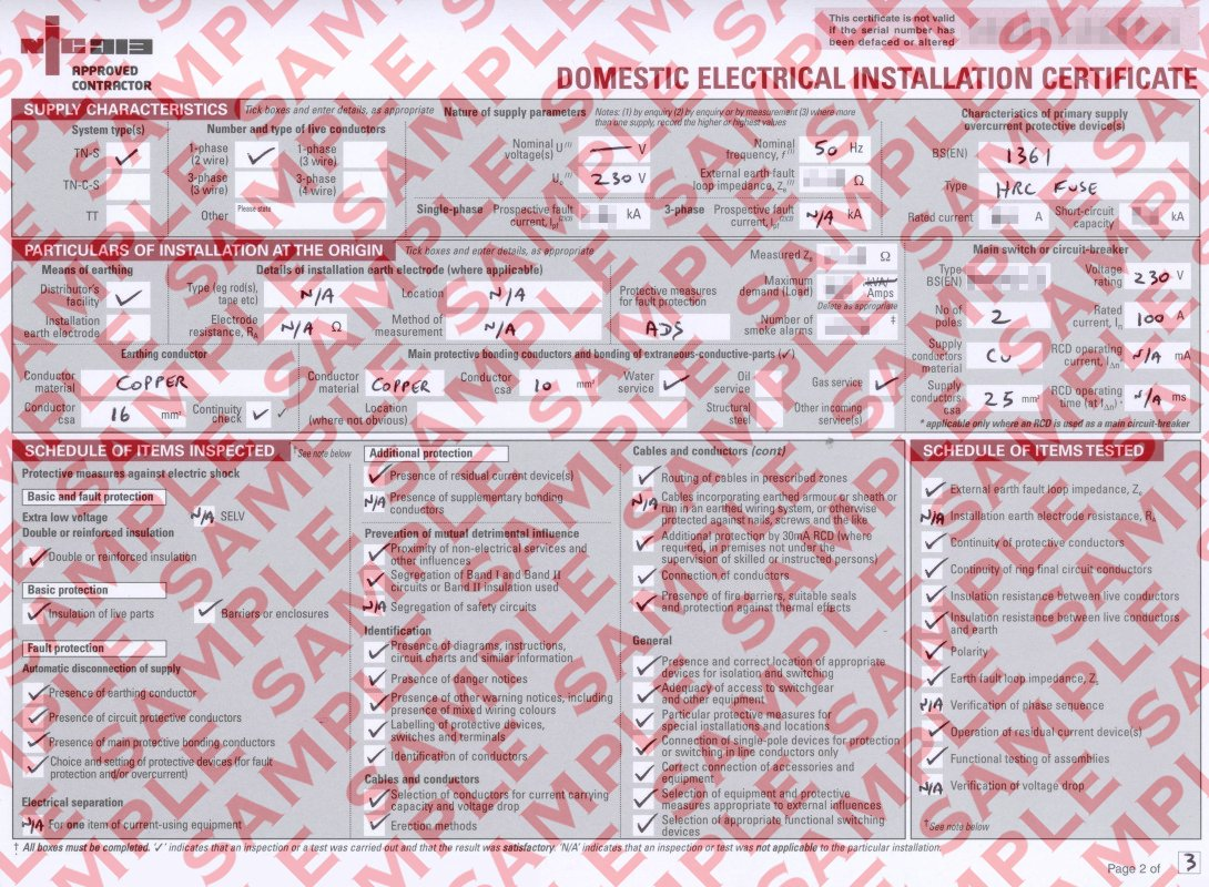 Electrical installation test certificate template gallery eec247 electrical installation certificate sample electrical installation works certificate page 1 alramifo gallery xflitez Image collections