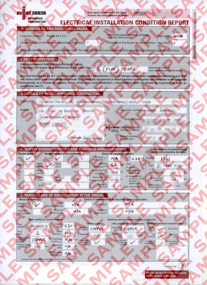eec247 Electrical Installation Condition Report